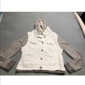 American Eagle hooded denim jacket size XL